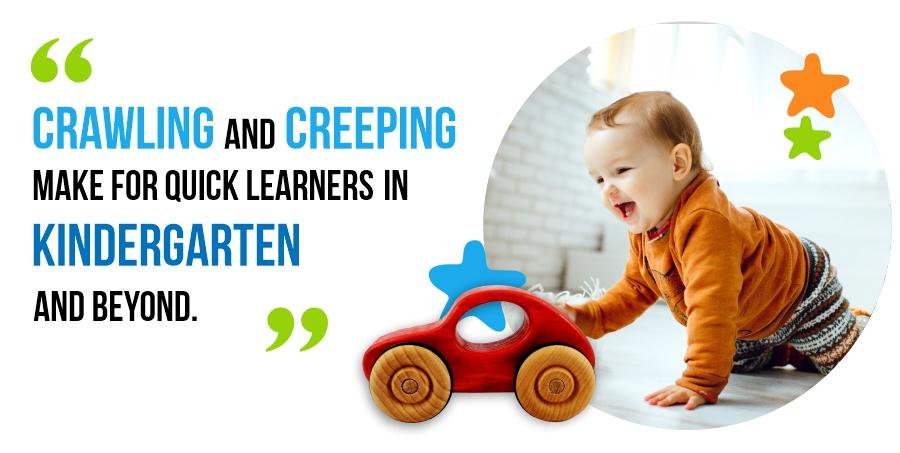crawling and creeping in kindergarten