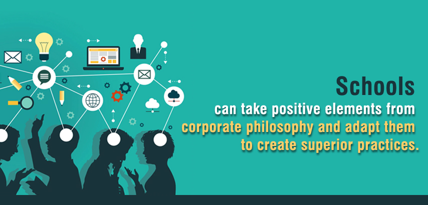 Schools take positive elements from corporate philosophy