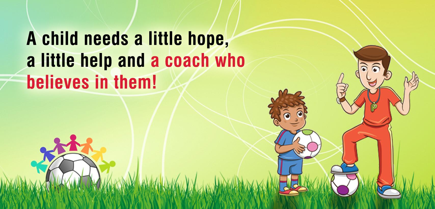 Coaches help children grow in Soccer